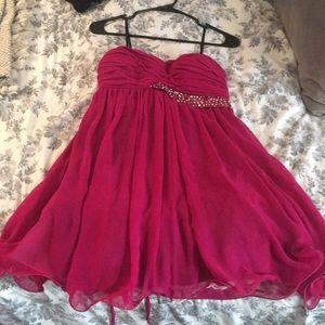Deb shop pink homecoming/ prom dress